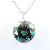 3.50 Ct AAA Certified Blue Diamond Solitaire Pendant, Elegant Shine