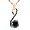 1.50 Ct Black Diamond Designer Pendant with Black Accents, Certified - ZeeDiamonds