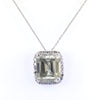 Rare 8.10 Ct Certified Off-White Diamond Pendant with Diamond Accents - ZeeDiamonds