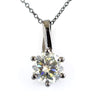 1.80 Ct AAA Certified Off-White Diamond Pendant in Prong Style