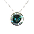 1.5 Ct Blue Diamond 100% Certified Solitaire Pendant in 925 Silver - ZeeDiamonds