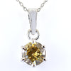 1 Ct Certified, Champagne Diamond Solitaire Pendant, Gift For Anniversary - ZeeDiamonds