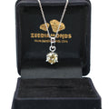1 Ct Certified, Champagne Diamond Solitaire Pendant, Gift For Anniversary