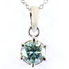 3.20 Ct Certified Blue Diamond Solitaire Pendant in Prong Setting