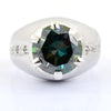 5.5 Ct Blue Diamond Men's Ring. Great Shine & Luster.100% Genuine & Certified. - ZeeDiamonds