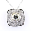 2.15 Ct AAA Certified Off-White Diamond Pendant with Diamond Accents