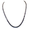 Black Diamond Men's Tennis Necklace.Great Shine & Luster!100% Genuine Certified.