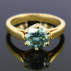 0.80  Ct AAA Certified Blue Diamond Solitaire Ring, Great Brilliance