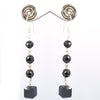 AAA Certified 4 mm Black Diamonds Dangler Earrings, Latest Collection - ZeeDiamonds