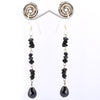 10 Ct Certified Rough Black Diamond Dangler Earrings-Latest Collection