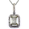 7.15 Ct Certified Elegant Off-White Diamond Pendant with Diamond Accents