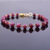47.70 Ct Handmade Ruby Gemstone Chain Bracelet in Yellow Gold