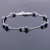 AAA Certified Round Black Diamond Chain Bracelet, Great Luster