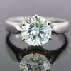 2.90 Ct Off-White Tinge of Blue Solitaire Diamond Ring, AAA Certified