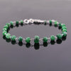 23.65 ct Emerald Gemstone Bracelet in 925 Silver, White Gold Clasp - ZeeDiamonds