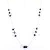 AAA 100 % Certified Elegant Black Diamond Chain Necklace in 925 Silver