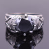 3.40 Ct Round Shape Black Diamond Solitaire Ring in Designer Creation - ZeeDiamonds
