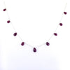 Natural African Ruby Briolites Necklace In 925 Silver- Beautiful Design