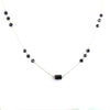 AAA Certified Black Diamond Chain Necklace in 925 Silver, Great Luster - ZeeDiamonds
