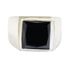 8.65 Ct AAA Certified Black Diamond Solitaire Ring in 925 Sterling Silver