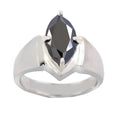 4.75 Ct Black Diamond Solitaire Ring in 925 Sterling Silver - ZeeDiamonds