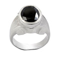 7.5 Ct Oval Shape Black Diamond Solitaire Ring in 925 Sterling Silver - ZeeDiamonds