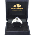 2.7 Ct Round Shape Black Diamond Solitaire Ring in 925 Sterling Silver - ZeeDiamonds