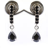 2.20 Ct AAA Certified Black Diamond Designer Earring, Designer Look