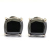 4 Ct AAA Certified Cushion Shape Black Diamond Studs in 925 Silver