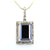 12 Ct, Black Diamond Solitaire pendant With Diamond Accents - ZeeDiamonds