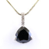 7.70 Ct, Black Diamond Designer Accents Pendant, Great Shine & Beautiful Look - ZeeDiamonds