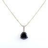 7.70 Ct Pear Shape Black Diamond Fancy Pendant with Diamond Accents - ZeeDiamonds