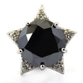 10 Ct, Black Diamond Solitaire Designer Accents Pendant, Great Shine & Luster - ZeeDiamonds