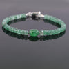 38.90 Ct, Stunning Emerald Gemstone Bracelet- GREAT DESIGN - ZeeDiamonds