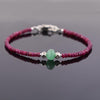 26.65 ct Ruby Gemstone & Emerald Bead Bracelet with Silver Finding- Great Gift - ZeeDiamonds