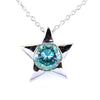 3.90 Ct AAA Certified Blue Diamond Solitaire Star Shape Pendant