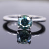 1.25 Ct AAA Certified Blue Diamond Solitaire Ring, Great Shine