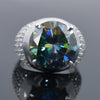 5.50 Ct Certified Designer Blue Diamond Heavy Ring with Diamond Accents