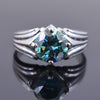 2.50 Ct AAA Certified Blue Diamond Solitaire Ring, Great Sparkle