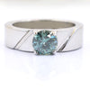 1.30 Ct AAA Certified Blue Diamond Solitaire Band Ring, Great Luster