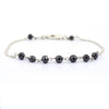 AAA Certified 5 mm Black Diamond Chain Bracelet, Anniversary Gift