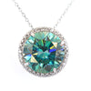 16.40 Ct Huge Blue Diamond Pendant with Diamond Accents, 100% Certified - ZeeDiamonds