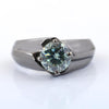 1 Ct AAA Certified Stunning Blue Diamond Solitaire Ring in 925 Silver