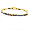 AAA Certified 5 mm Black Diamond Tennis Bracelet in 925 Sterling Silver - ZeeDiamonds