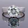 2.35 Ct Certified Off-White Tinge of Blue Diamond Ring, Great Brilliance