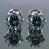 2.45 Ct AAA Certified Blue Diamond Solitaire Studs,Excellent Shine & Lustre ! - ZeeDiamonds