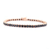 5 mm Black Diamond Tennis Bracelet in 925 Silver, 100% Certified - ZeeDiamonds
