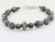 50 Ct Fancy Drum Black Diamond Bracelet 7.25 Inches Certified AAA Quality-Birthday Gift - ZeeDiamonds