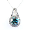5 Certified Gorgeous Blue Diamond Pendant with Diamond Accents