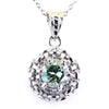 1.20 Certified Elegant Blue Diamond Pendant with Diamond Accents